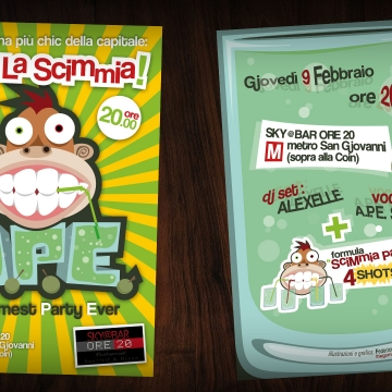 A.P.E. - Awesomest Party Ever Flyer - by Federico Gomato